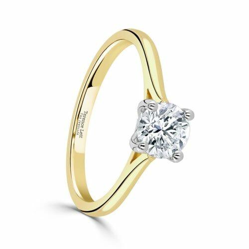 Round Brilliant Cut Diamond Single Stone Four Claw Ring 0.71ct