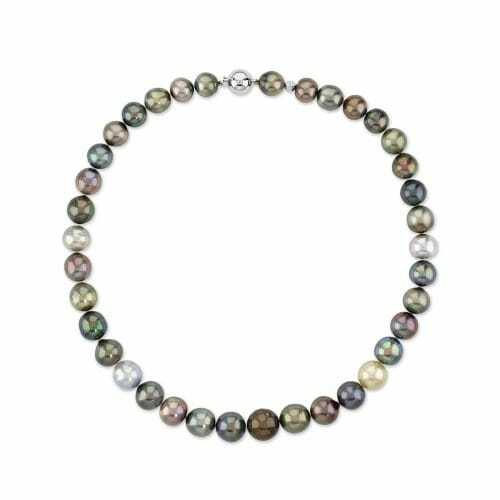 18ct White Gold 10mm-13mm Tahitian Pearl Necklace 44cm
