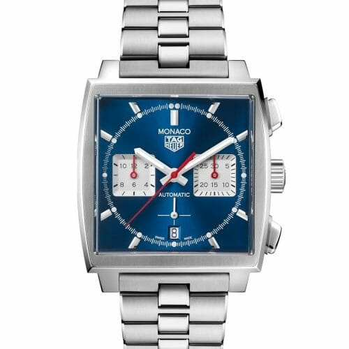 TAG Heuer Monaco Calibre Heuer 02 Steel Blue Dial 39mm- Front View