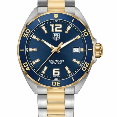 TAG Heuer Formula 1 Steel & Gold Blue Dial 41mm- Front View