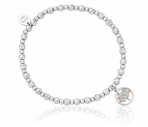 Clogau Sterling Silver & 9ct Rose Gold Tree of Life Affinity Beaded Bracelet 3SBB102R