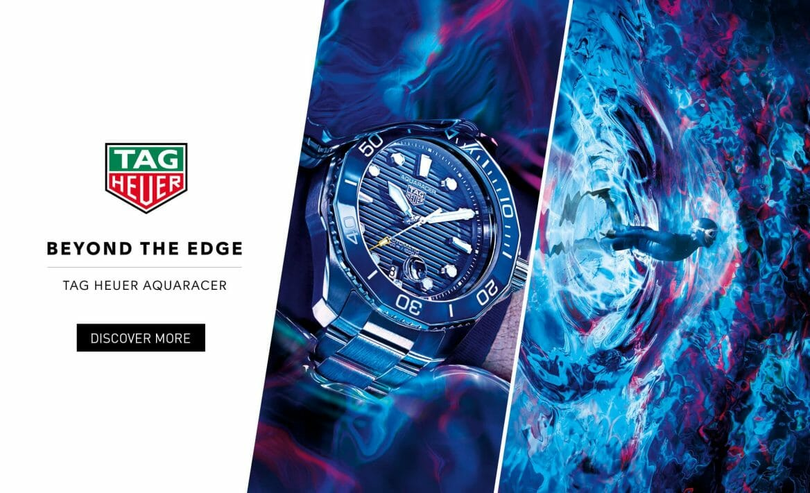TAG Heuer Aqua Racer at Terence Lett Banner