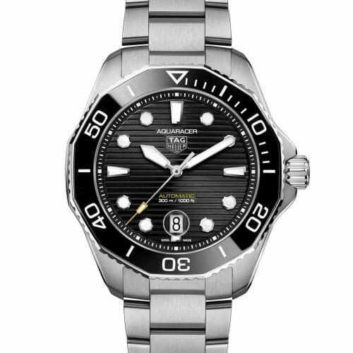 TAG Heuer Aquaracer Professional 300 Calibre 5 Steel Black Dial & Bezel 43mm WBP201A.BA0632
