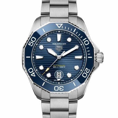 TAG Heuer Aquaracer Professional 300 Calibre 5 Steel Blue Dial & Bezel 43mm WBP201B.BA0632