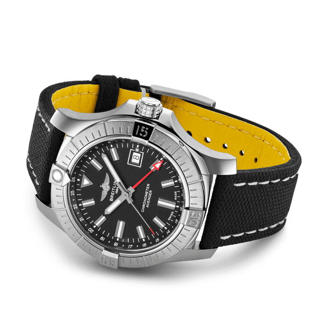 Breitling Avenger Automatic GMT Steel Black Dial 43mm A32397101B1X1 Side