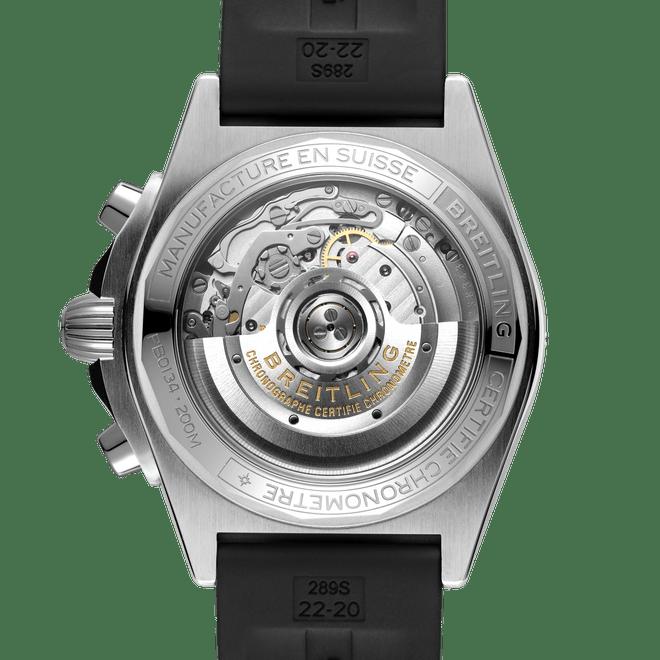 Breitling Chronomat B01 Chronograph Steel & Platinum Ice Blue Dial 42mm PB0134101C1S1 Caseback