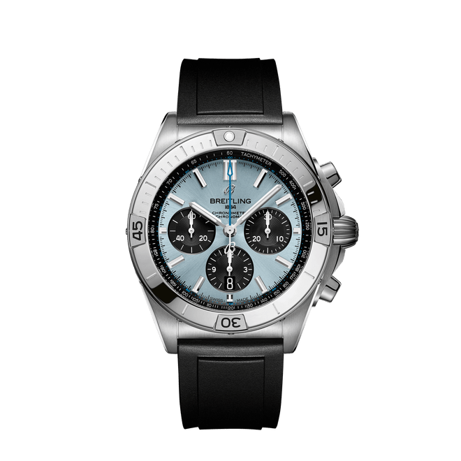 Breitling Chronomat B01 Chronograph Steel & Platinum Ice Blue Dial 42mm PB0134101C1S1