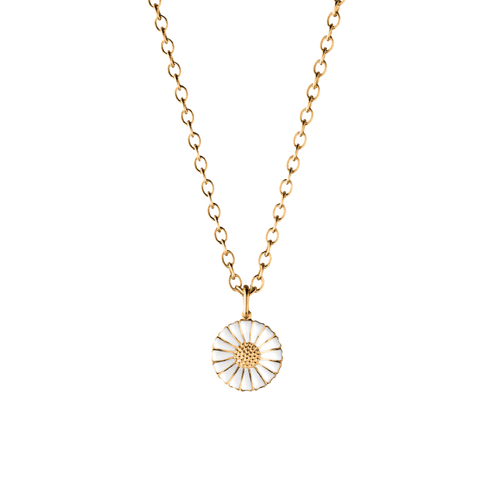 Georg Jensen Gold Plated Sterling Silver Daisy Large Pendant 3536214
