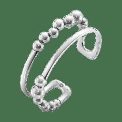Georg Jensen Sterling Silver Moonlight Grapes Cuff Bangle 20000659