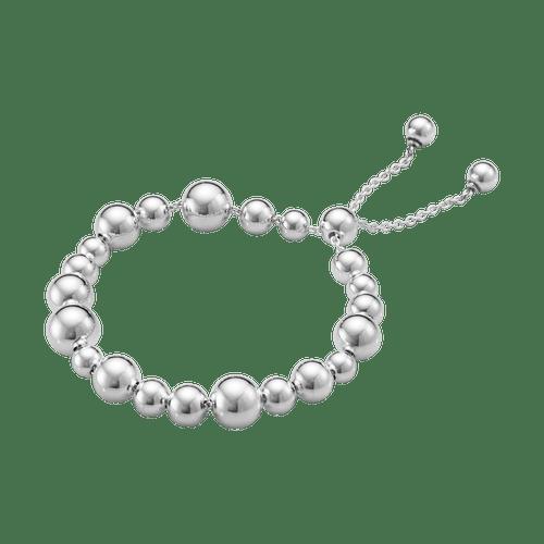 Georg Jensen Sterling Silver Moonlight Grapes Drawstring Bracelet 20000728