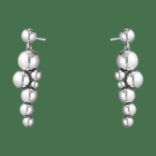 Georg Jensen Sterling Silver Moonlight Grapes Drop Earrings 10019037