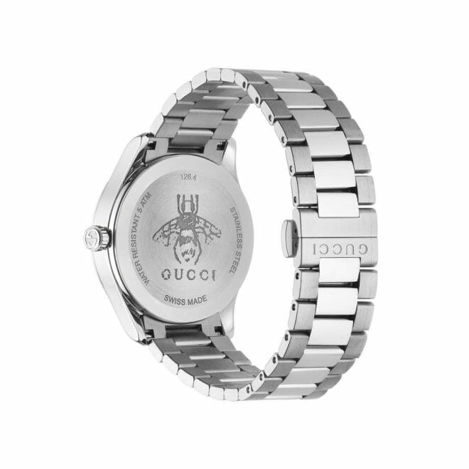 Gucci G-Timeless Stainless Steel Black Dial 38mm YA1264029 Caseback