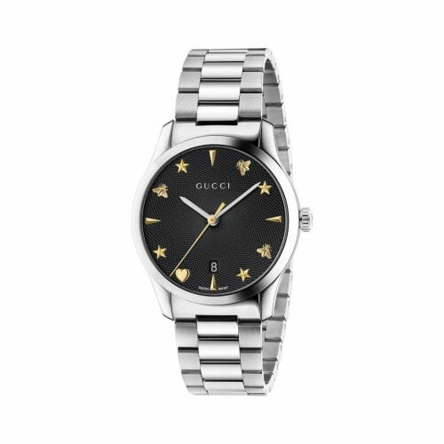Gucci G-Timeless Stainless Steel Black Dial 38mm YA1264029