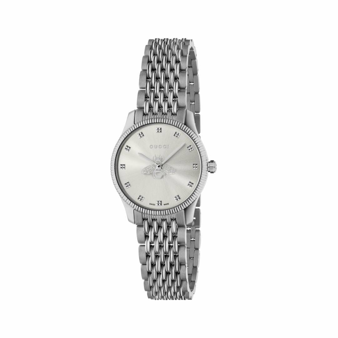 Gucci G-Timeless Stainless Steel Silver Bee Dial 29mm YA1265019