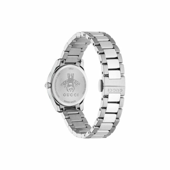 Gucci G-Timeless Stainless Steel Silver Dial 27mm YA126572 Caseback