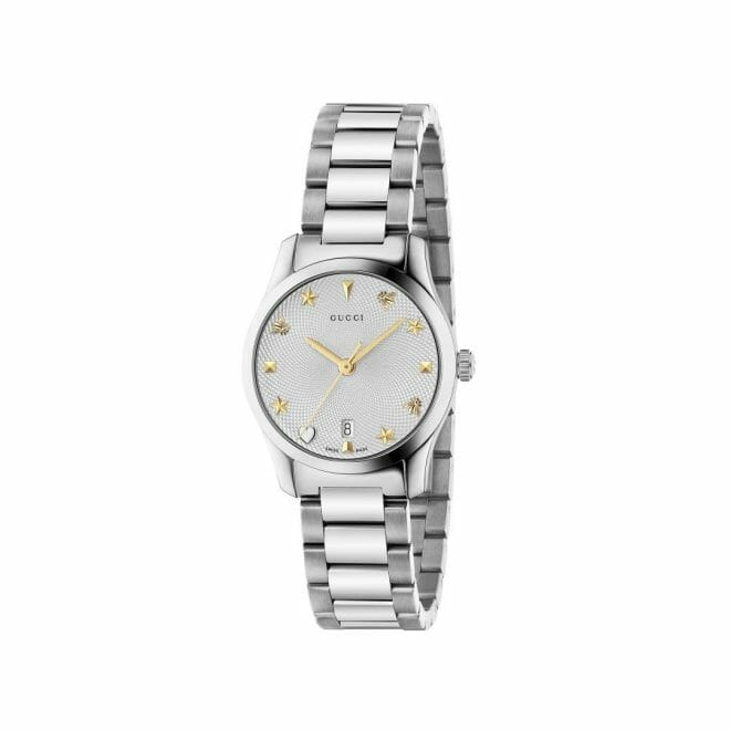 Gucci G-Timeless Stainless Steel Silver Dial 27mm YA126572