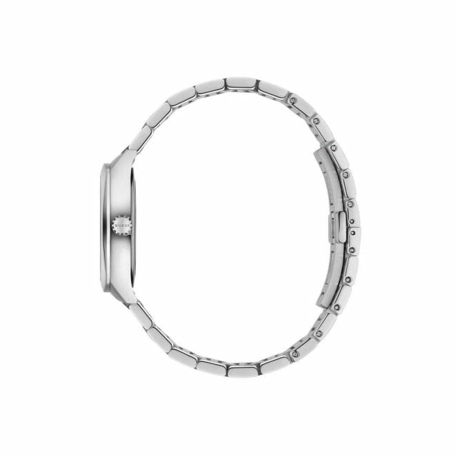 Gucci GG2570 Stainless Steel White Diamond Dot Dial 29mm YA142504 Profile