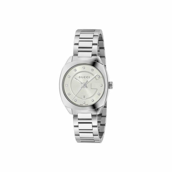 Gucci GG2570 Stainless Steel White Diamond Dot Dial 29mm YA142504