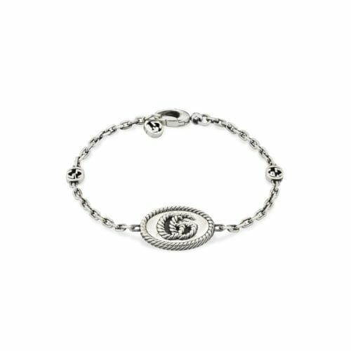 Gucci Sterling Silver GG Marmont ID Bracelet YBA627749001