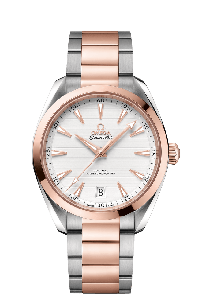 OMEGA Seamaster Aqua Terra Co-Axial Master Chronometer Steel & 18ct Rose Gold Silver Dial 41mm 220.20.41.21.02.001