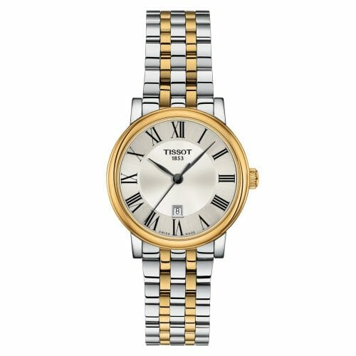 Tissot Carson Premium Lady Steel & Gold PVD Coated Silver Dial 30mm T122.210.22.033.00