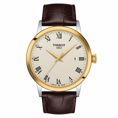 Tissot Classic Dream Steel & Gold PVD Coated Cream Dial 40mm T129.410.26.263.00