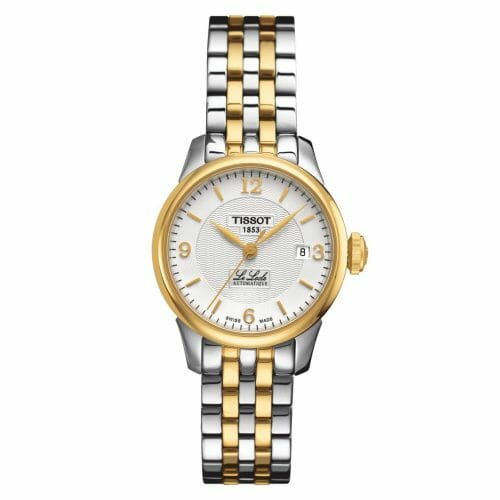 Tissot Le Locle Automatic Small Steel & Gold PVD Coated Silver Dial 25.3mm T41.2.183.34
