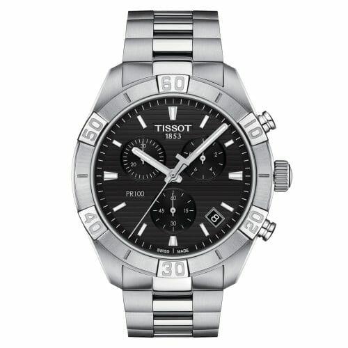 Tissot PR100 Sport Chronograph Steel Black Dial 44mm T101.617.11.051.00