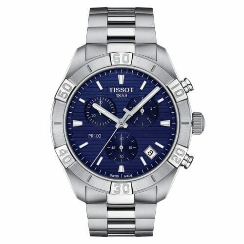 Tissot PR100 Sport Chronograph Steel Blue Dial 44mm T101.617.11.041.00