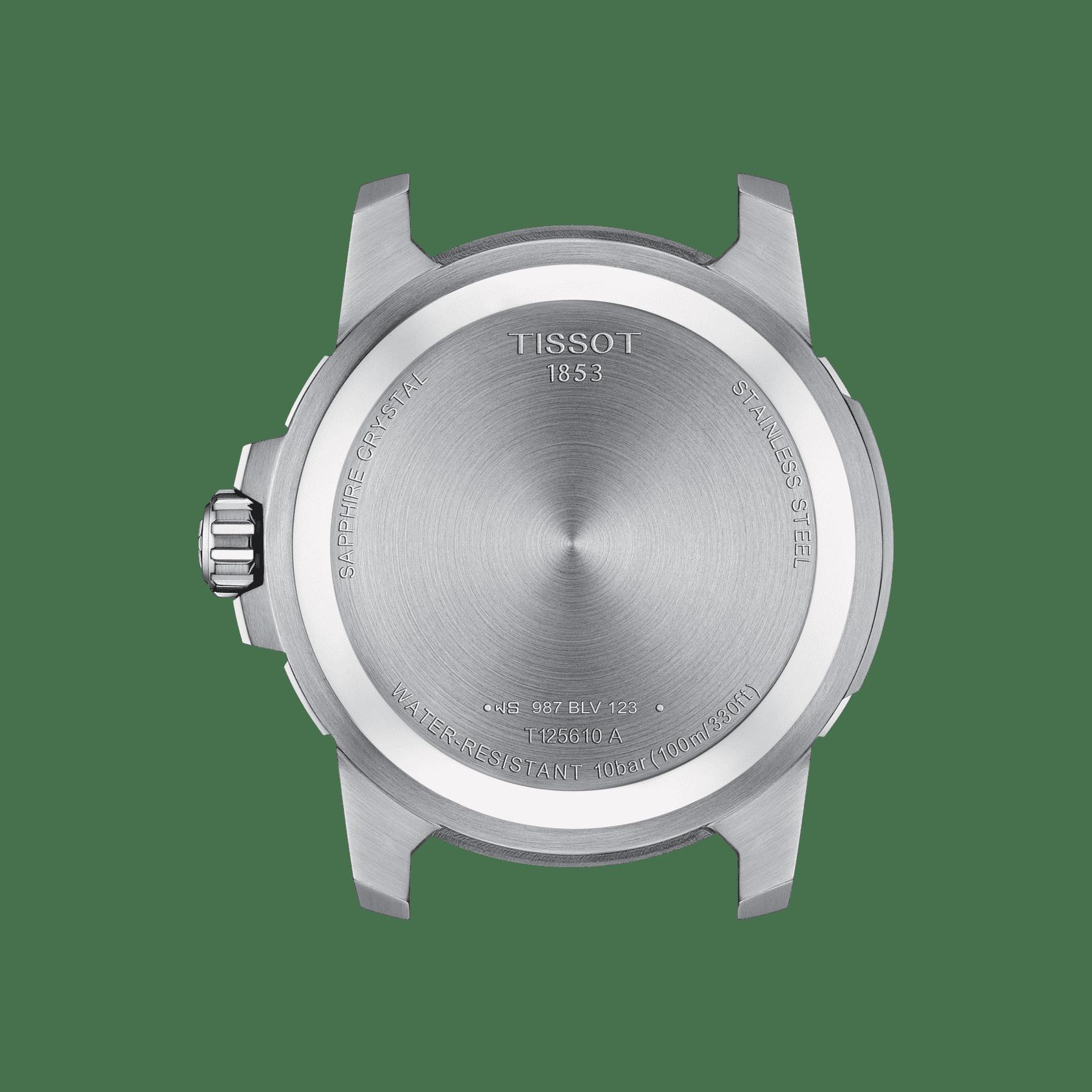Tissot Supersport Steel Black Dial 44mm T125.610.11.051.00 Caseback