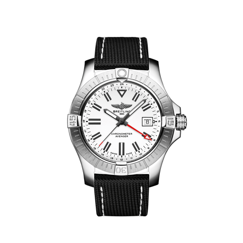 Breitling Avenger Automatic GMT Steel White Dial 43mm A32397101A1X2