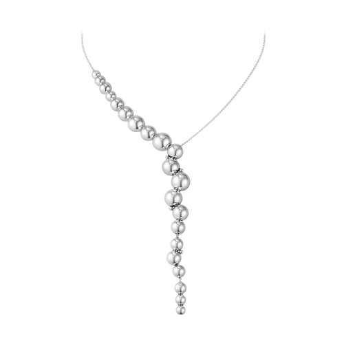 Georg Jensen Sterling Silver Moonlight Grapes Offset Necklace 10019041