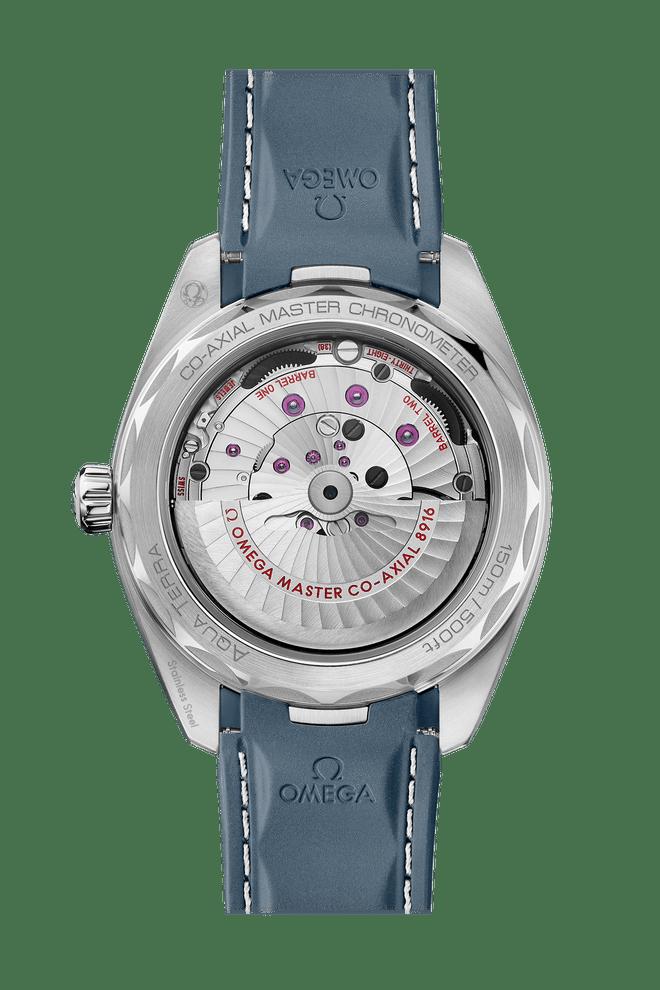 OMEGA Seamaster Aqua Terra Small Seconds Co-Axial Master Chronometer Blue Dial 41mm 220.12.41.21.03.005 Caseback