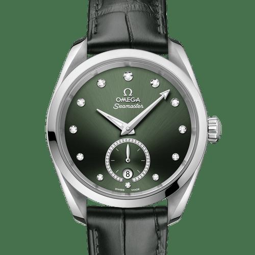 OMEGA Seamaster Aqua Terra Small Seconds Co-Axial Master Chronometer Green Diamond Dot Dial 38mm 220.13.38.20.60.001