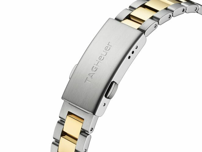 TAG Heuer Aquaracer Quartz Steel & Gold Plated Diamond Dot Mother of Pearl Dial 27mm WBD1422.BB0321 Clasp