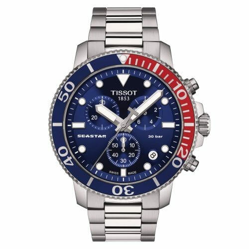 Tissot Seastar 1000 Chronograph Steel Blue Dial 45.5mm T120.417.11.041.03