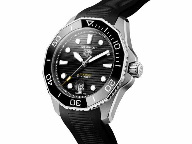 TAG Heuer Aquaracer Professional 300 Calibre 5 Steel Black Dial WBP201A.FT6197 Angle