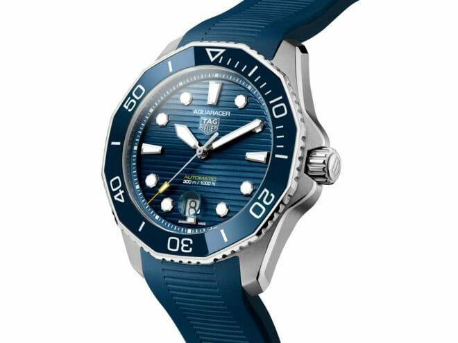 TAG Heuer Aquaracer Professional 300 Calibre 5 Steel Blue Dial 43mm WBP201B.FT6198 Angle