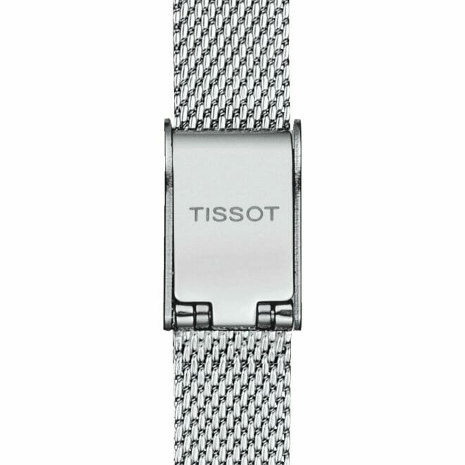 Tissot Lovely Square Steel Blue Dial 20mm T058.109.11.041.00 Clasp