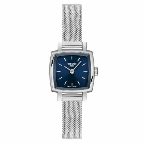 Tissot Lovely Square Steel Blue Dial 20mm T058.109.11.041.00