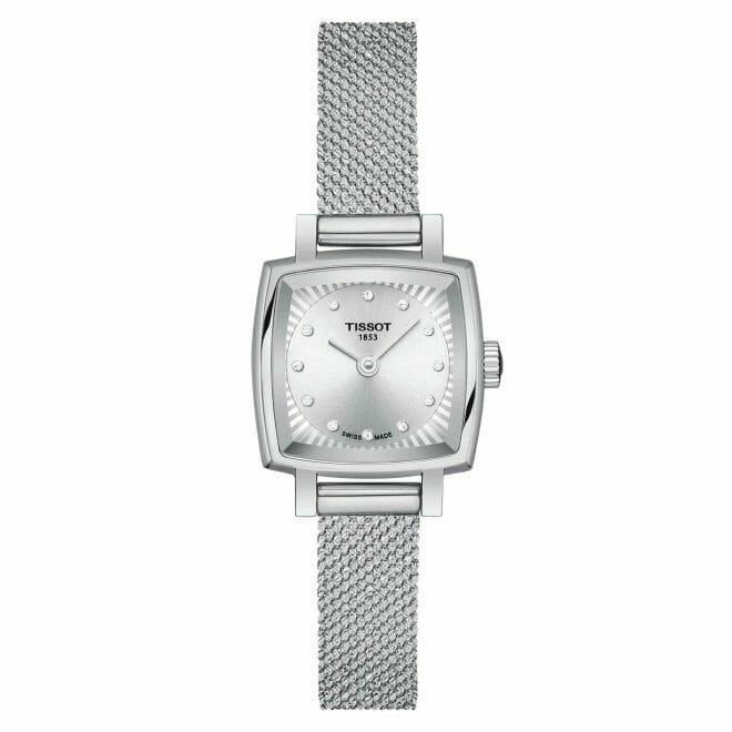 Tissot Lovely Square Steel Diamond Dot Silver Dial 20mm T058.109.11.036.00