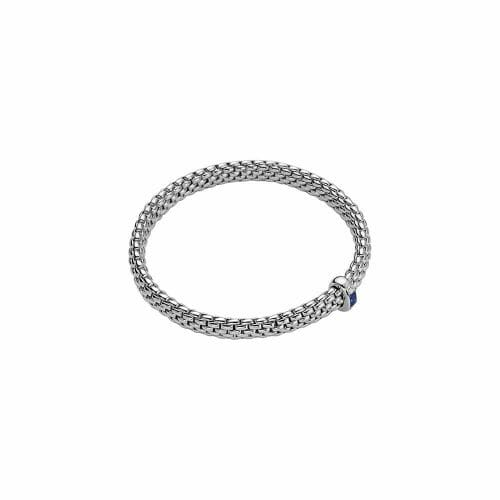 Fope 18ct White Gold Vendôme Sapphire & Diamond Flex'It Bracelet 583B BZAF