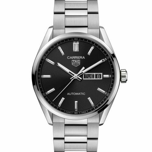 TAG Heuer Carrera Calibre 5 Automatic Day-Date Steel Black Dial 41mm WBN2010.BA0640