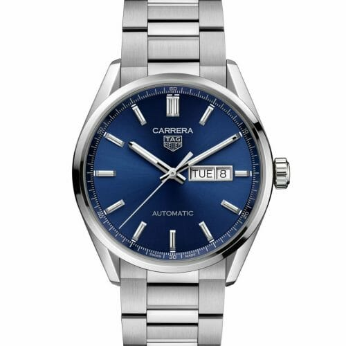 TAG Heuer Carrera Calibre 5 Automatic Day-Date Steel Blue Dial 41mm WBN2012.BA0640