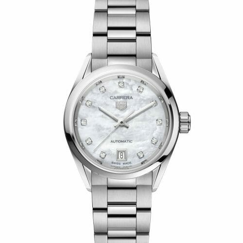TAG Heuer Carrera Calibre 9 Automatic Steel Diamond Dot Mother of Pearl Dial 29mm WBN2412.BA0621